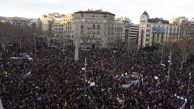 Manifestacio feminista 8M Bertran